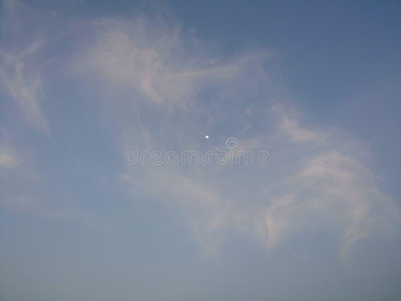 Księżyc w dnia świetle obraz royalty free