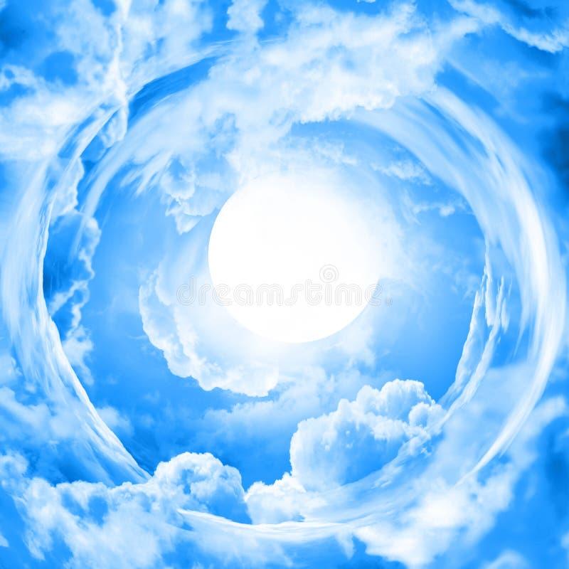 Księżyc w niebieskim niebie royalty ilustracja