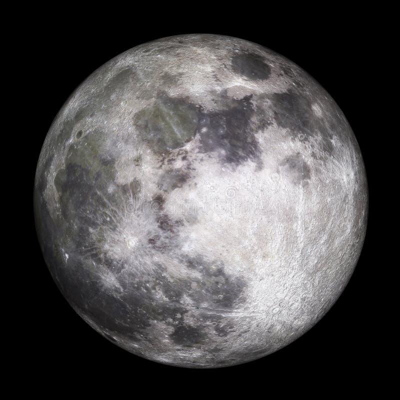 Księżyc w pełni - 3D odpłacają się obrazy royalty free