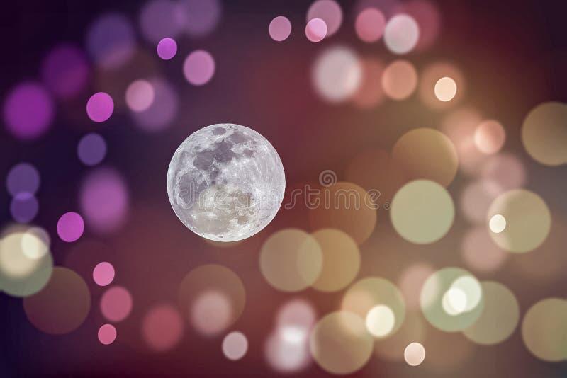 Księżyc W Pełni na Bokeh tle zdjęcia royalty free
