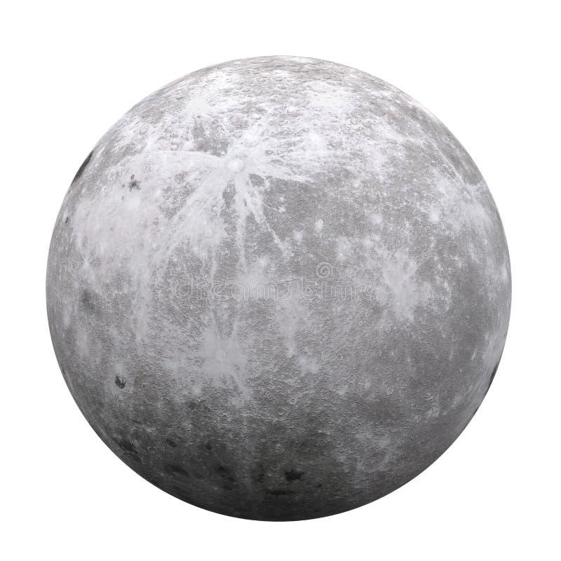 Księżyc W Pełni Odizolowywający ilustracja wektor