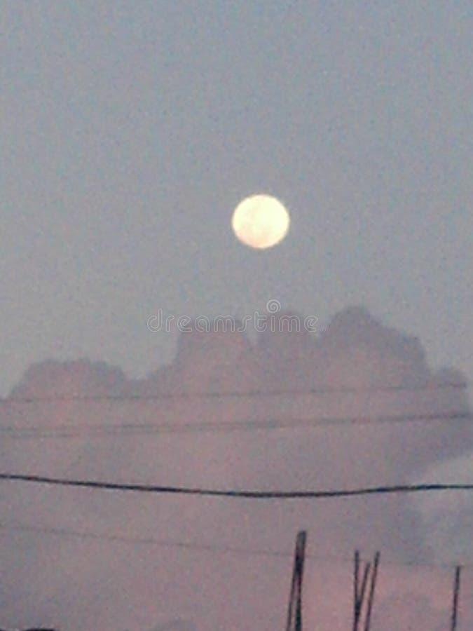 księżyc w pełni pagodowy shwedagon Yangon Myanmar obrazy stock