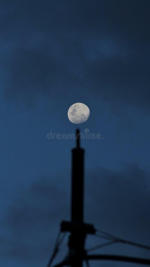 Księżyc w pełni rosnąca obrazy royalty free