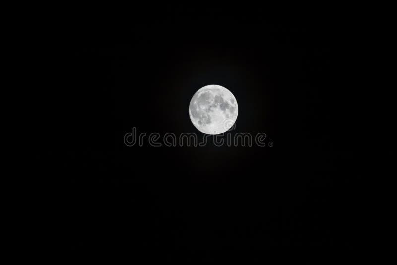 Księżyc w pełni w niebie zdjęcia royalty free