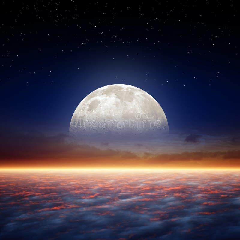 Księżyc w pełni wzrost royalty ilustracja