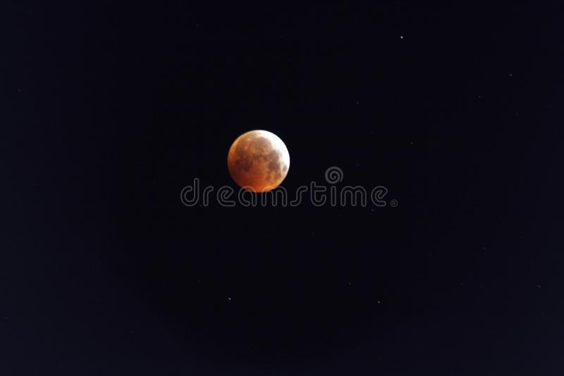 Księżyc w pełni z zaćmieniem zdjęcia stock