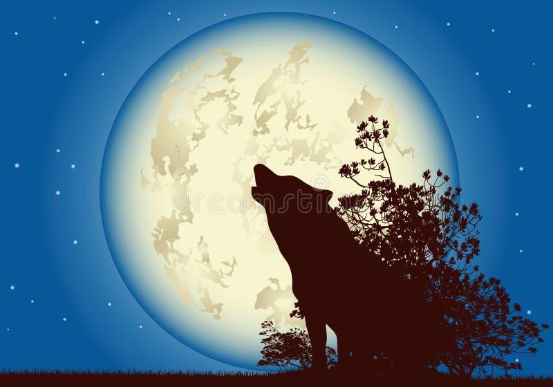 księżyc wilk obraz stock