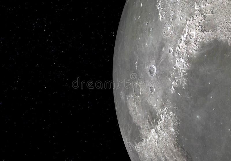 Księżyc - Wysoka rozdzielczość 3D wizerunki ilustracja 3 d ilustracji