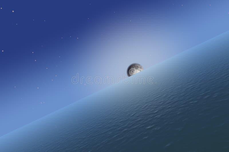 Księżyc wzrost zdjęcie stock