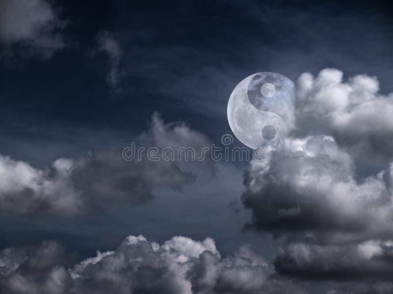księżyc Yang yin fotografia stock