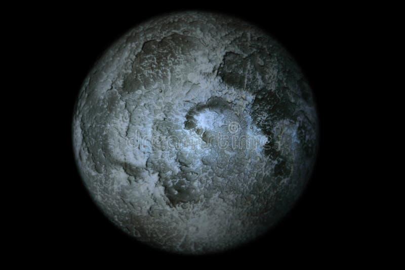 Księżyc zbliżenia szczegółu Najlepszy zmrok obrazy royalty free