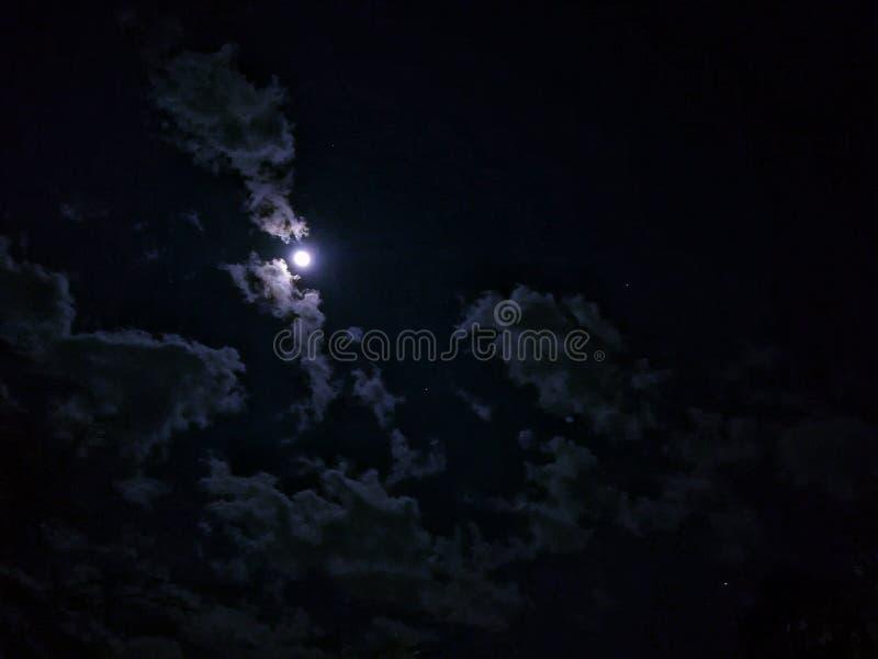 2017 księżyc zeszłej nocy obraz stock