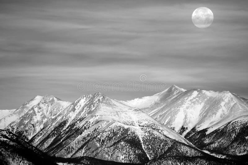 księżyc zima fotografia royalty free