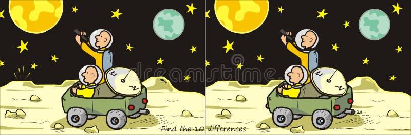 Księżyc znalezisko 10 różnic ilustracji