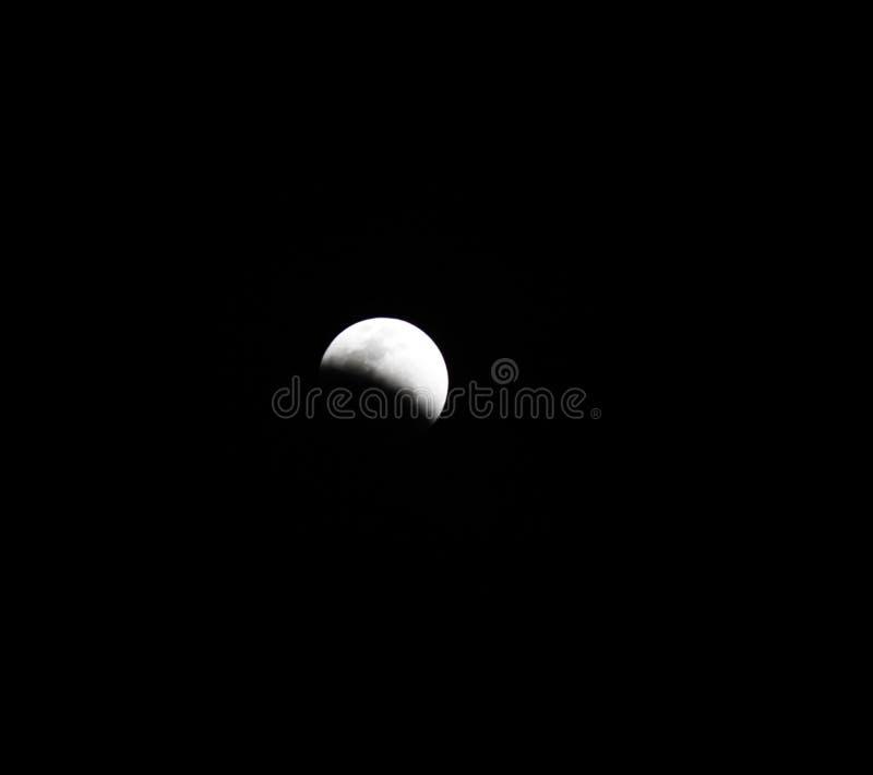 Księżycowy zaćmienie, zaćmienie księżyc fotografia royalty free