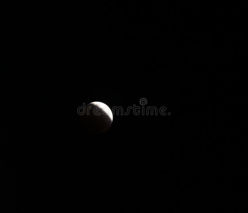 Księżycowy zaćmienie, zaćmienie księżyc fotografia stock