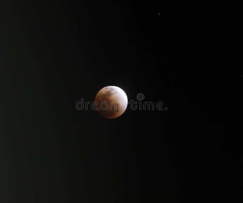 Księżycowy zaćmienie, zaćmienie księżyc zdjęcia stock