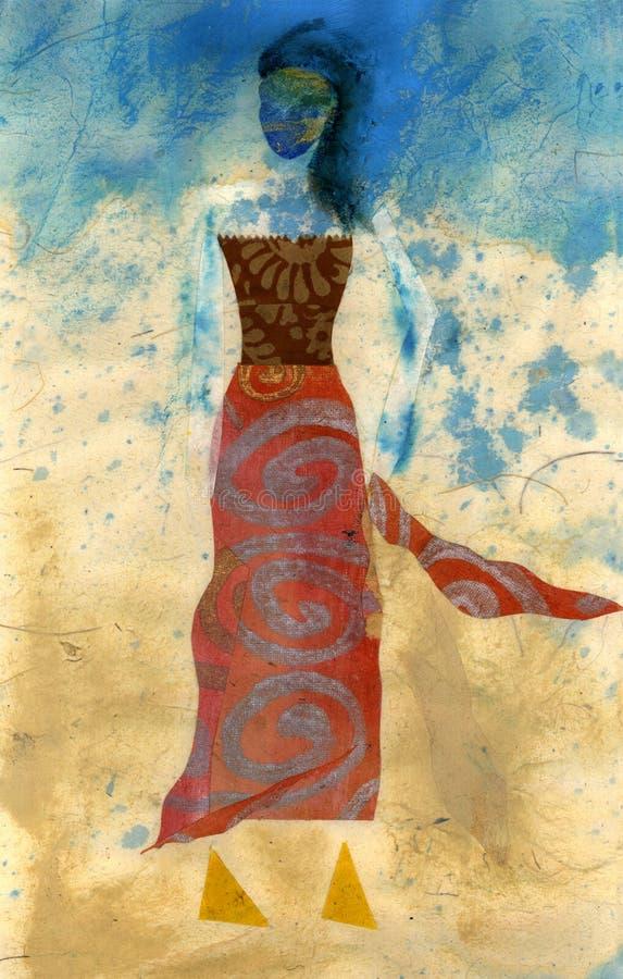 księga mody lalki royalty ilustracja