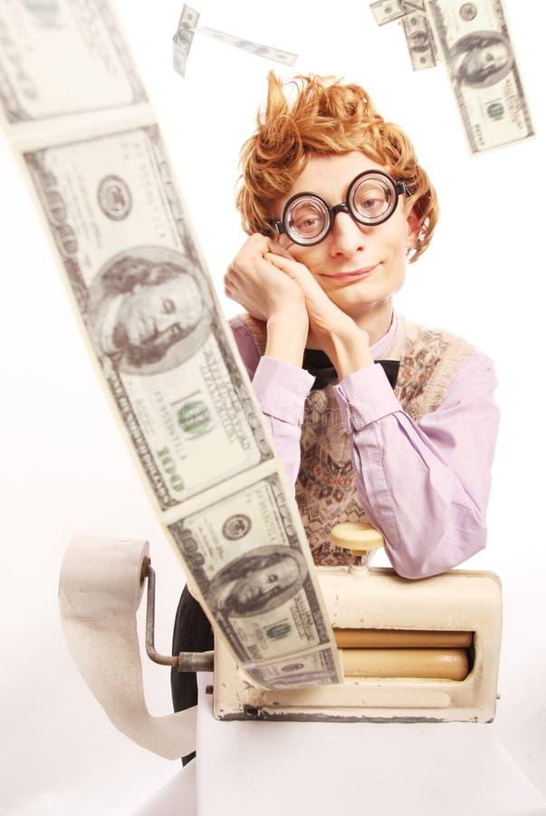 księgowego pieniądze maszynowy robi zdjęcie stock