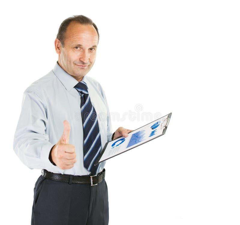 księgowość inwestor z pieniężnym planem dochody zdjęcie royalty free