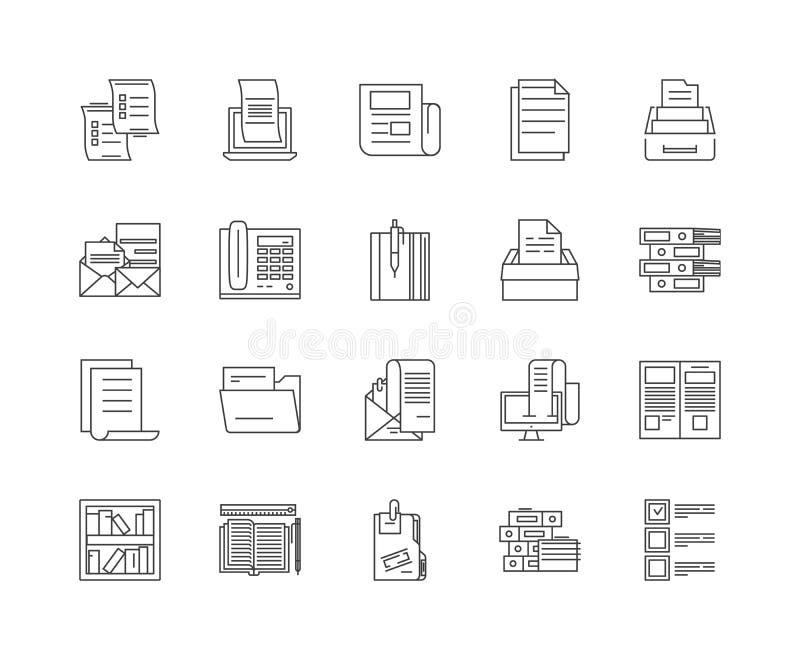 Ksi??ek telefonicznych kreskowe ikony, znaki, wektoru set, kontur ilustracji poj?cie ilustracja wektor