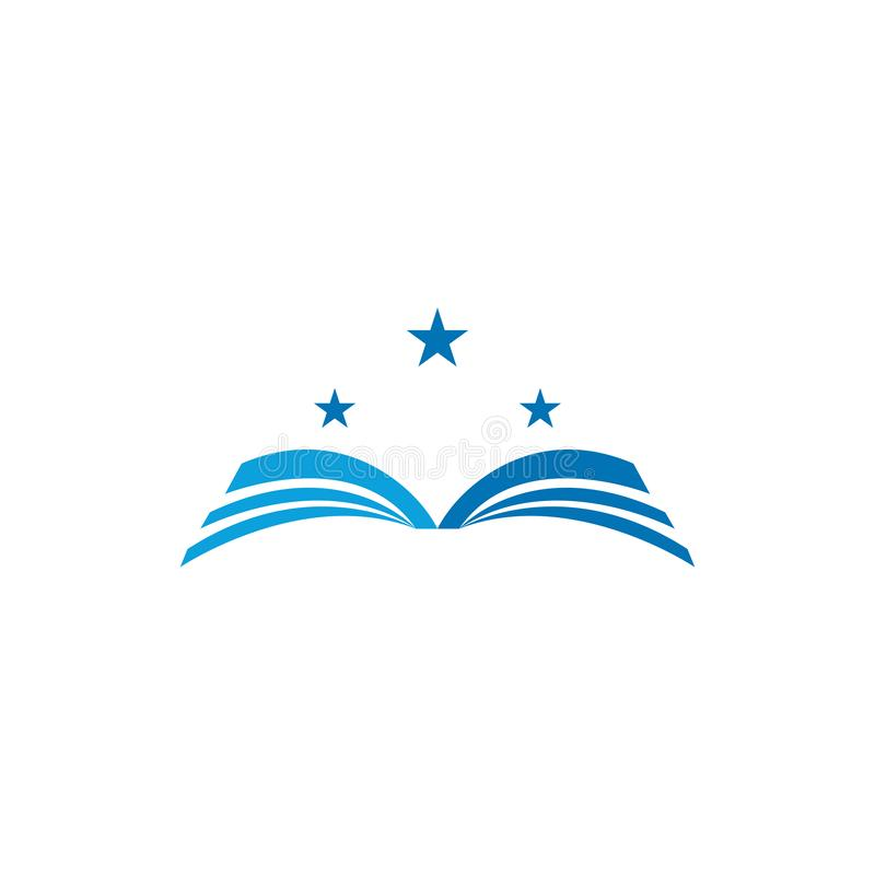 Ksi??kowa logo szablonu wektoru ilustracja ilustracji