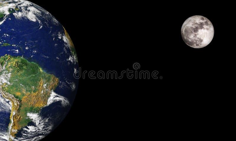ksi??yc ziemi ilustracji