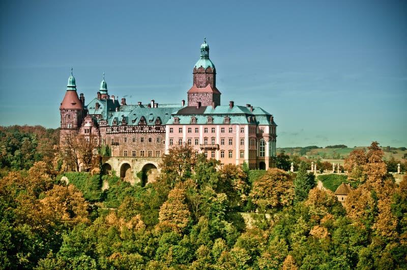 Ksiaz城堡在波兰 免版税库存照片