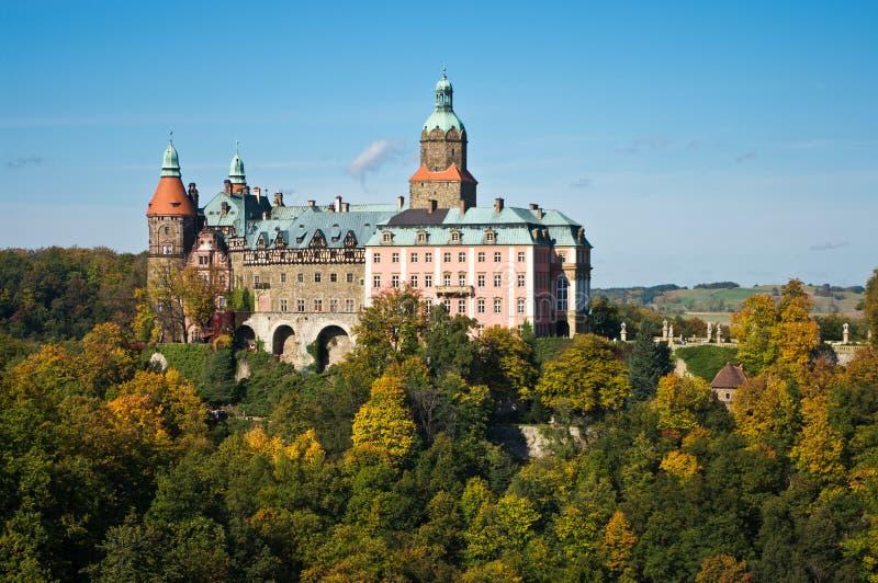 Ksiaz城堡在波兰 免版税库存图片
