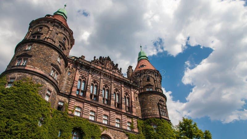 Ksiaz城堡在波兰 库存图片