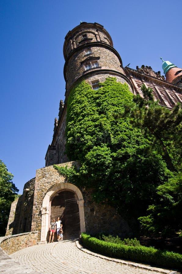 Ksiaz城堡外部 免版税库存照片