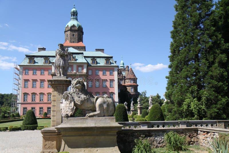 Ksiaz城堡 免版税库存图片