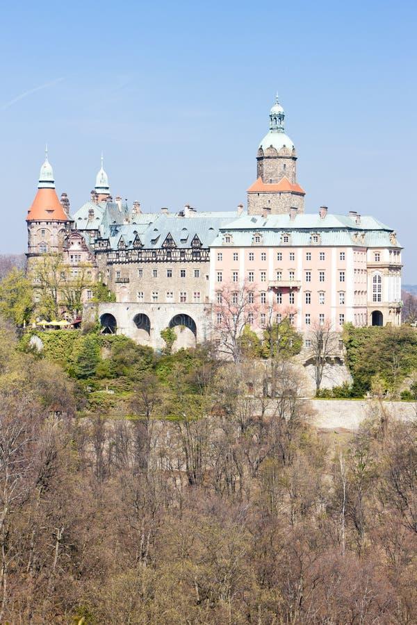 Ksiaz宫殿,西里西亚,波兰 库存照片