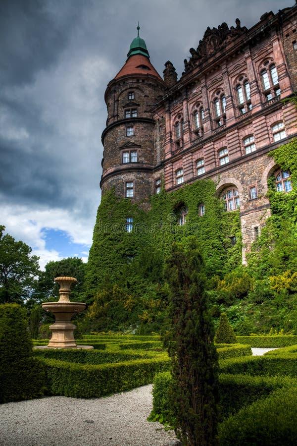 KSIAZ,波兰- 2009年6月7日:Ksiaz城堡是最大的城堡在波兰的西里西亚地区 库存照片