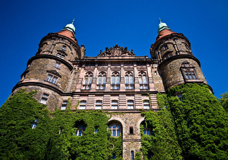 Ksiaz Castle exterior stock images