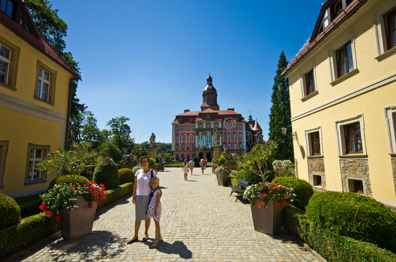 Download Ksiaz Castle, Poland stock image. Image of road, scenics - 77704749