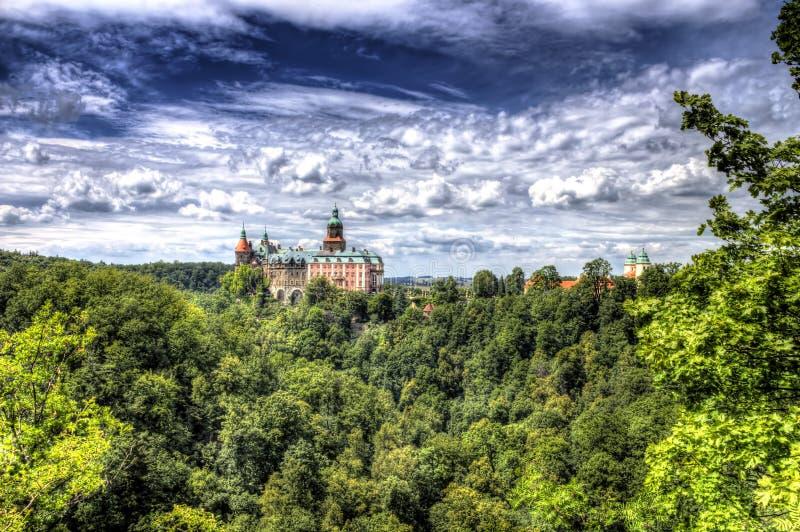 Ksiaz slott fotografering för bildbyråer