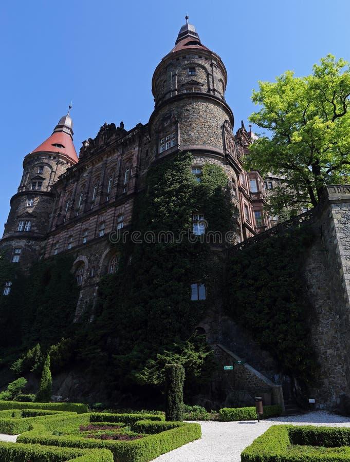 Ksiaz slott nära Walbrzych, Polen royaltyfria bilder
