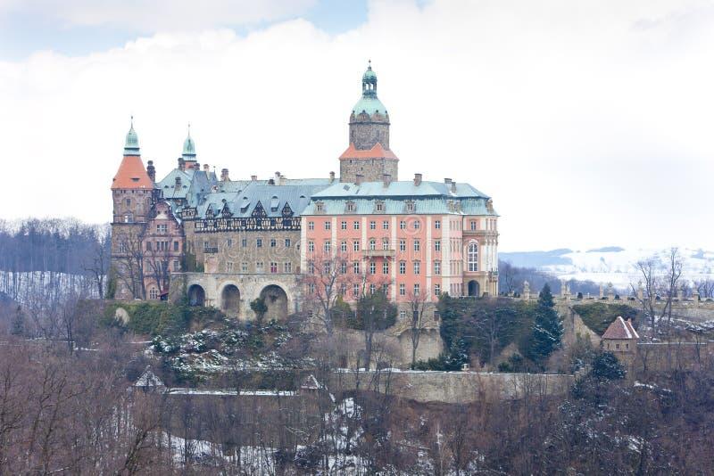 Ksiaz slott, Silesia, Polen royaltyfria bilder