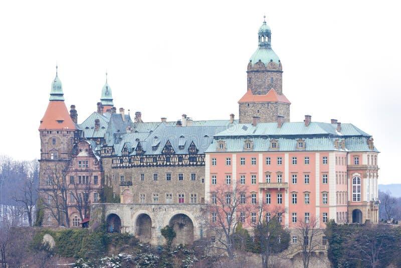 Ksiaz slott, Silesia, Polen arkivfoto