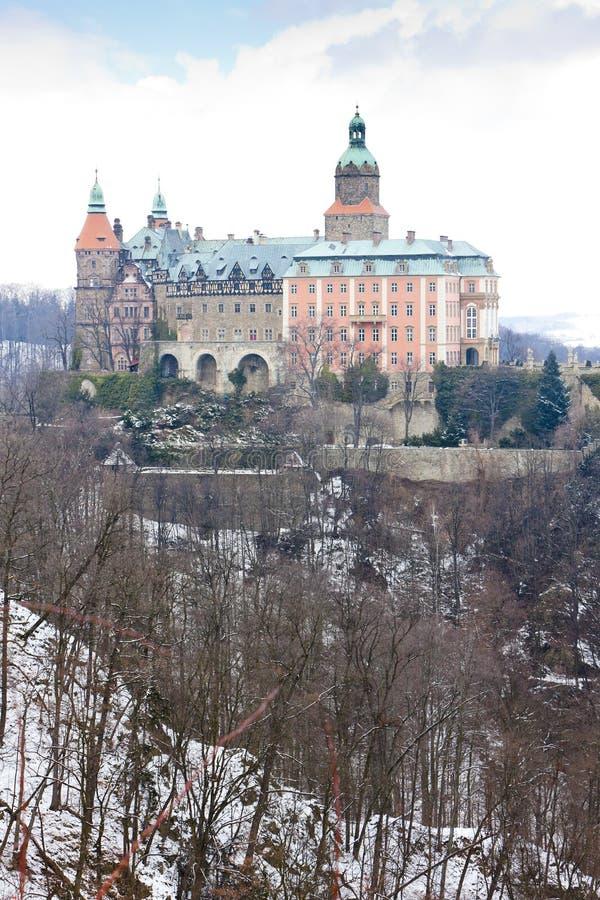 Ksiaz slott, Silesia, Polen fotografering för bildbyråer