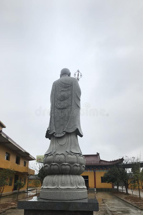 Ksitigarbha Bodhisattva statue-Lianchi Temple, Nanchang. One of the four Bodhisattvas of Han Buddhism. Buddhism has been popular in China for nearly 2000 years stock photo