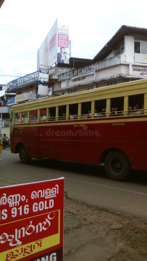 KSRTC είναι το επίσημο δημόσιο λεωφορείο που καλύπτει το ολόκληρο κράτος στοκ εικόνα με δικαίωμα ελεύθερης χρήσης