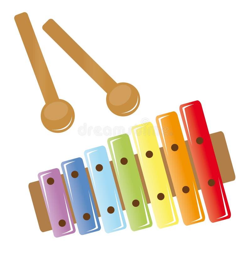 Download Ksylofon ilustracja wektor. Obraz złożonej z playing - 16442735
