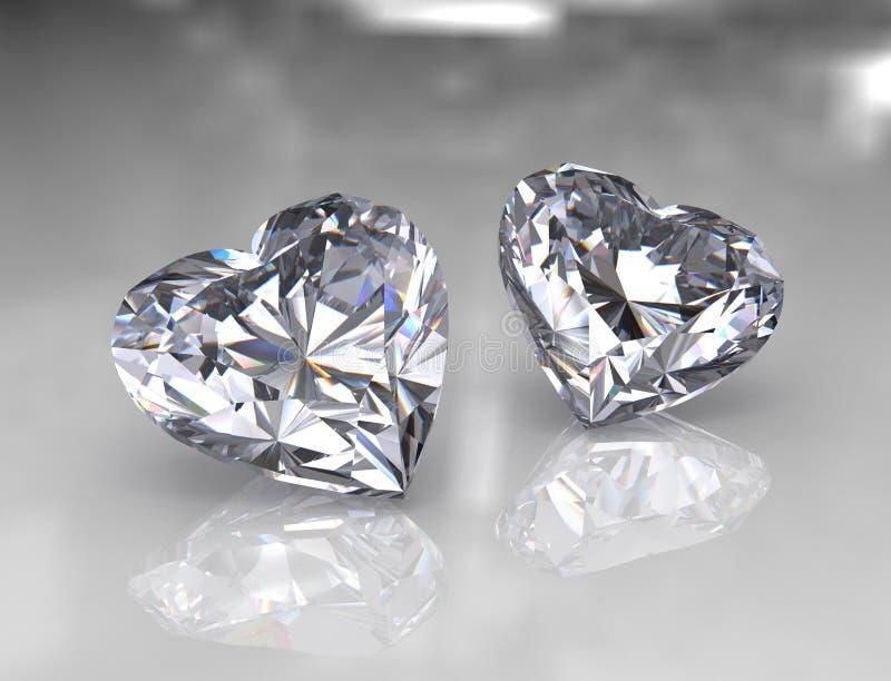 kształtów genialni diamentowi kierowi kamienie ilustracji