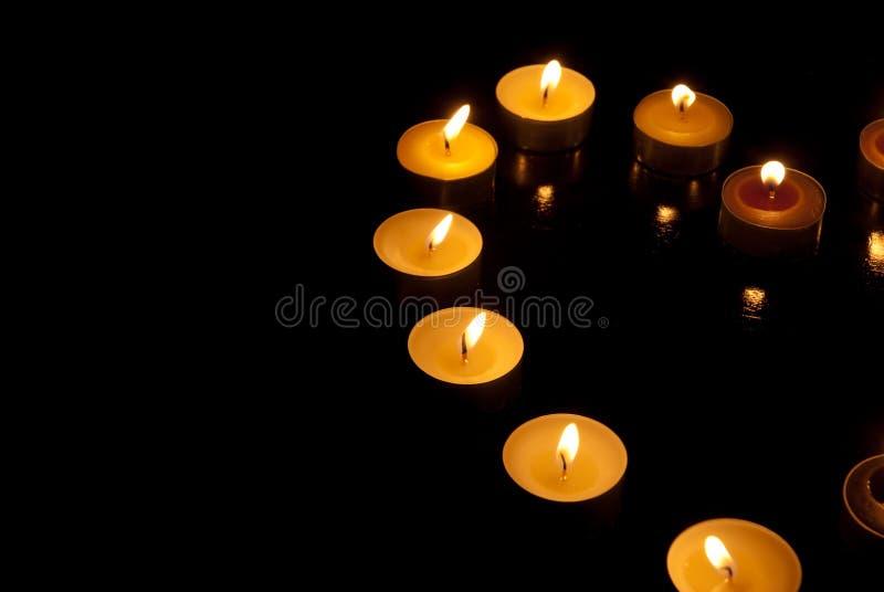 Kształt świeczki zdjęcie royalty free