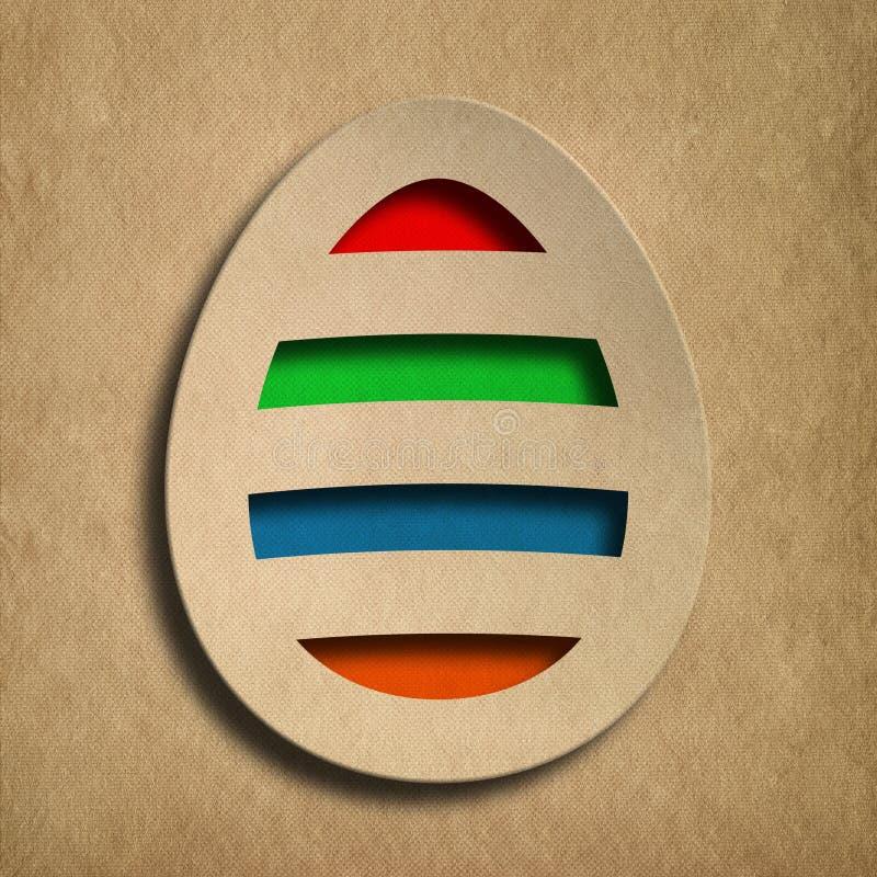 Kształt barwiony Wielkanocny jajko ilustracji