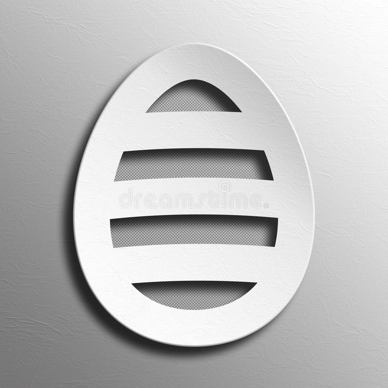 Kształt papieru Easter jajko royalty ilustracja
