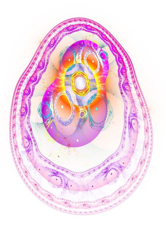 Kształtny jajka fractal ilustracja wektor