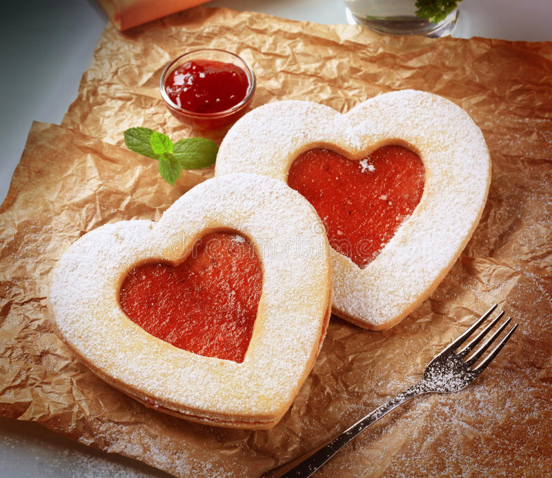 kształtujący ciastka serce obrazy stock
